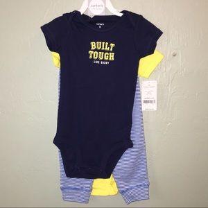909fd9d52 Carters Baby Boys 3-Piece Bodysuit & Pants Set NWT